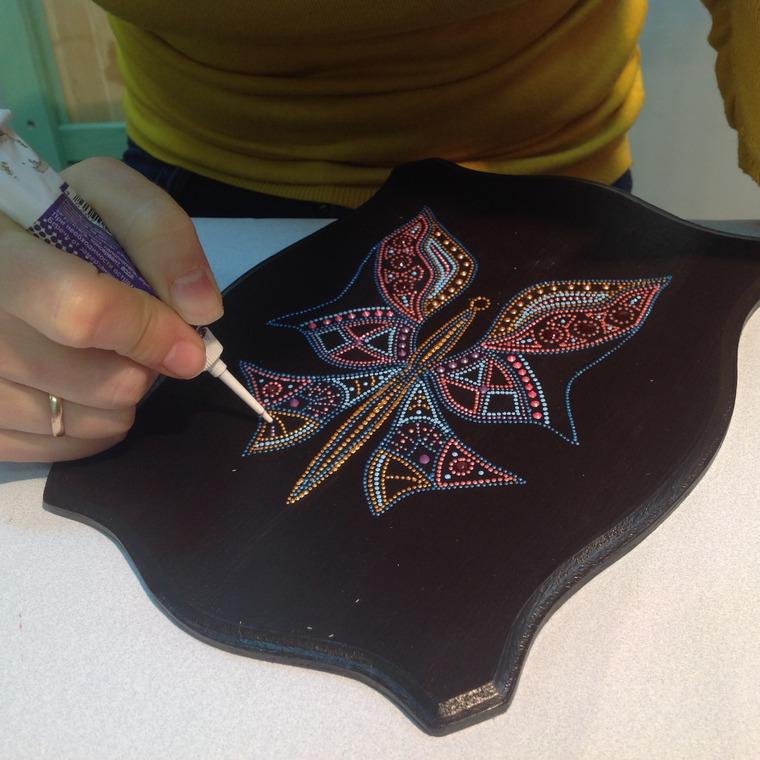 точечная роспись, adalina-art обучение