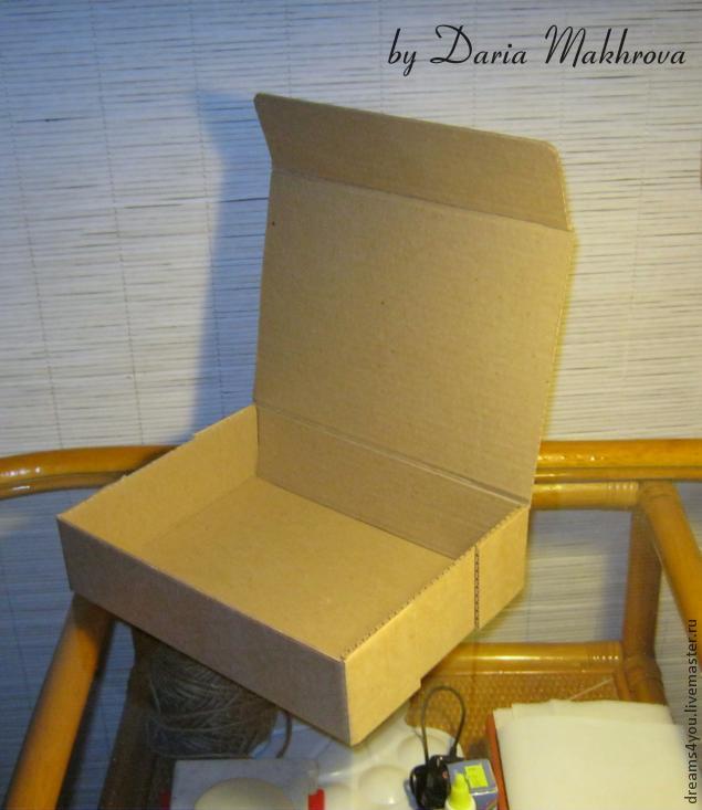 Низкая коробка своими руками