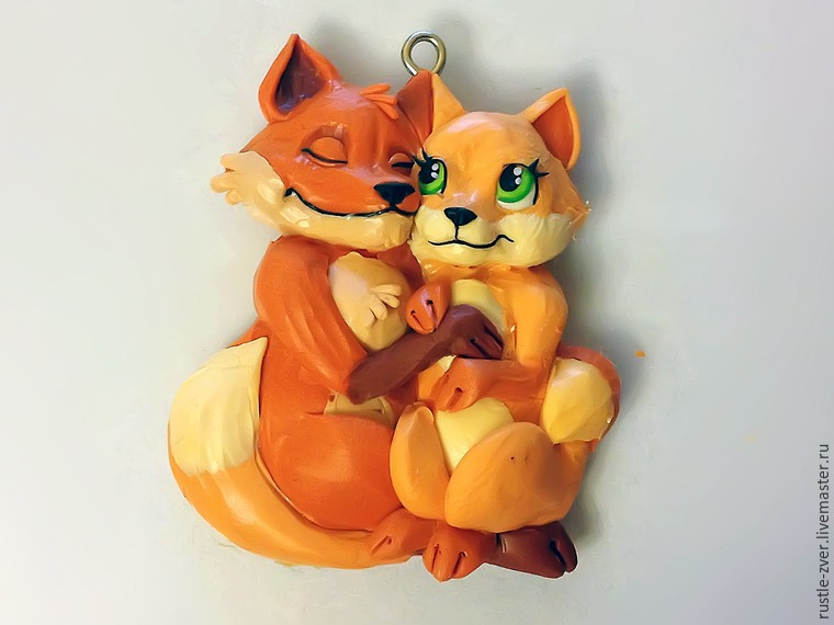 Modeling A Pendant Foxes in Love, фото № 28
