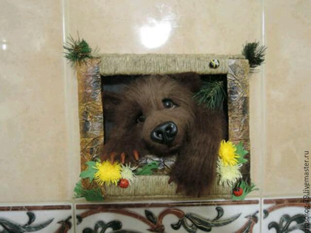 «Пробирается медведь сквозь лесной валежник...». Создаем из шерсти панно «Пробуждение», фото № 31