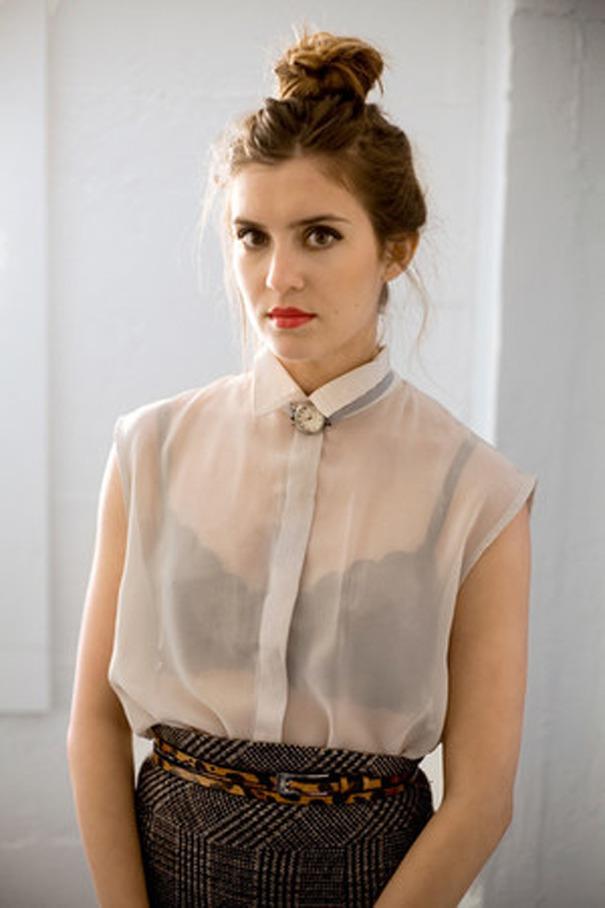 d9d3d7f5011 Прозрачная блузка  как носить