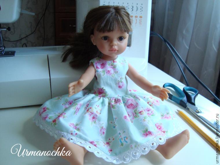 Подробный мастер-класс  шьем очаровательное платье для куклы – Ярмарка  Мастеров d823d336926