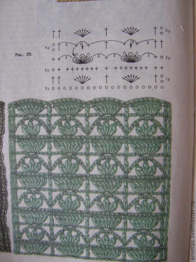 Как вязать узор ажурные квадраты