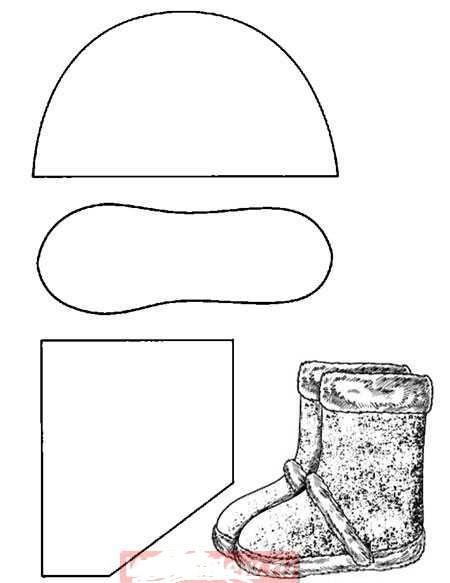 Домашняя обувь своими руками выкройка