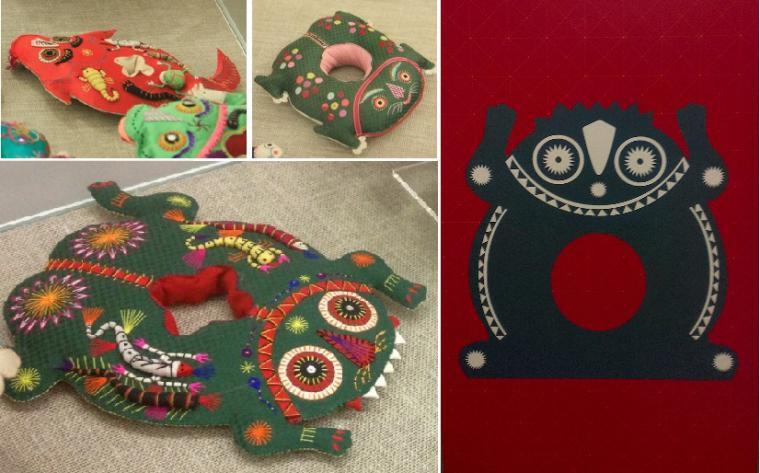 подушка-игрушка, ушные подушки, подушки с вышивкой, подушки для интерьера, подушки для детей, подарочная подушка