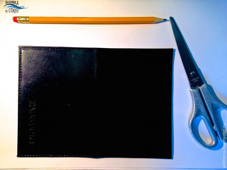 Точечная роспись шкатулки и обложки для паспорта