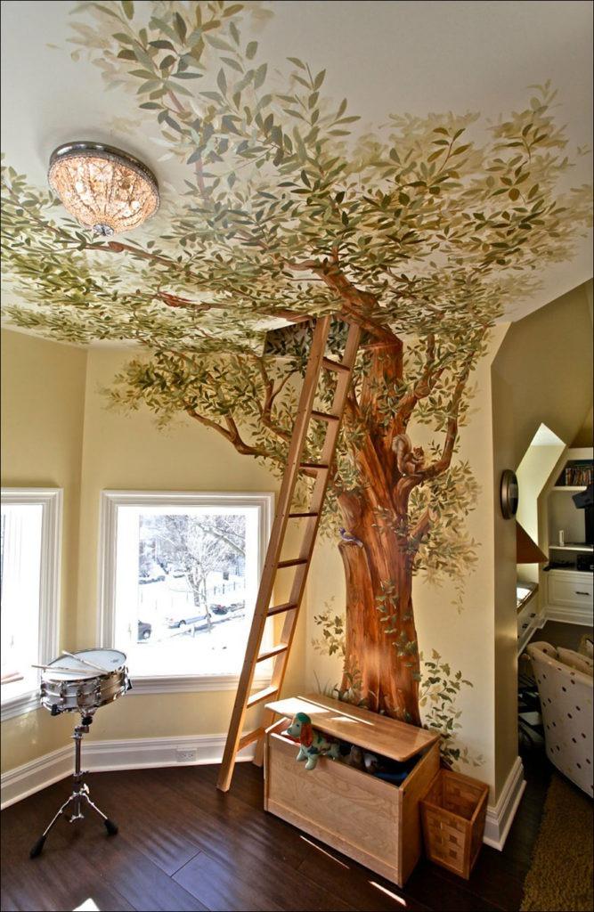 Дерево дизайн интерьера