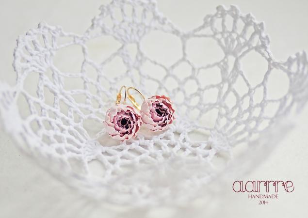 свадебные аксессуары, украшения с цветами, полимерная глина, жасмин, для невесты