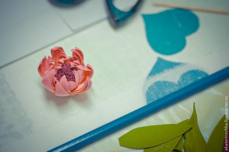 цветы из пластичной замши