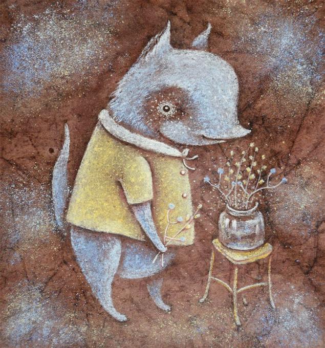 картина пастелью, авторская картина, весенний волчок, весенняя картина, вербочка