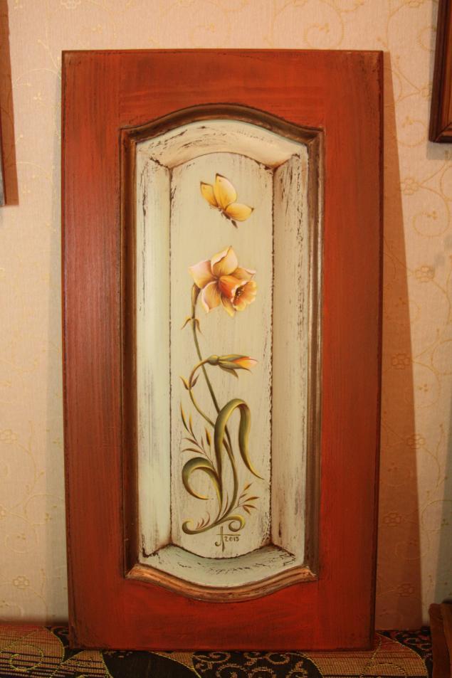 роспись по дереву, роспись акрилом, состаривание предметов, декор мебели, двойной мазок, жостовская роспись
