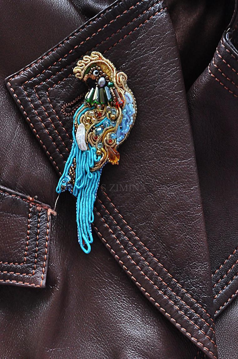 попугай, авторский дизайн
