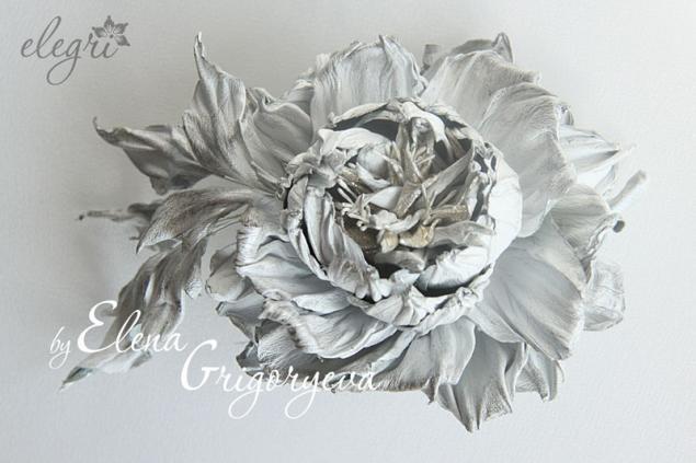 роза из кожи, елена григорьева цветы, обучение цветоделию, кожаная брошь, цветоделие