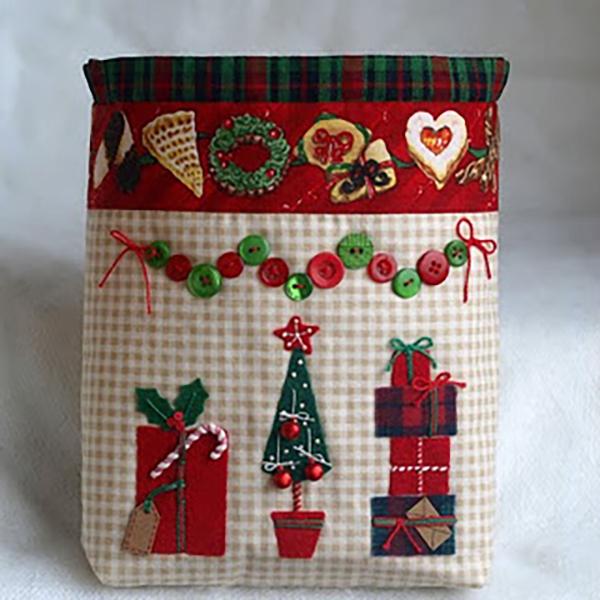 Как сделать новогодние мешочки своими руками