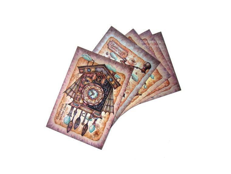 ретро, самовар, открытки