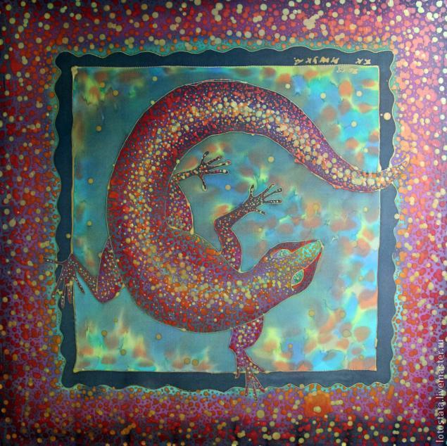натуральный шелк, роспись ткани