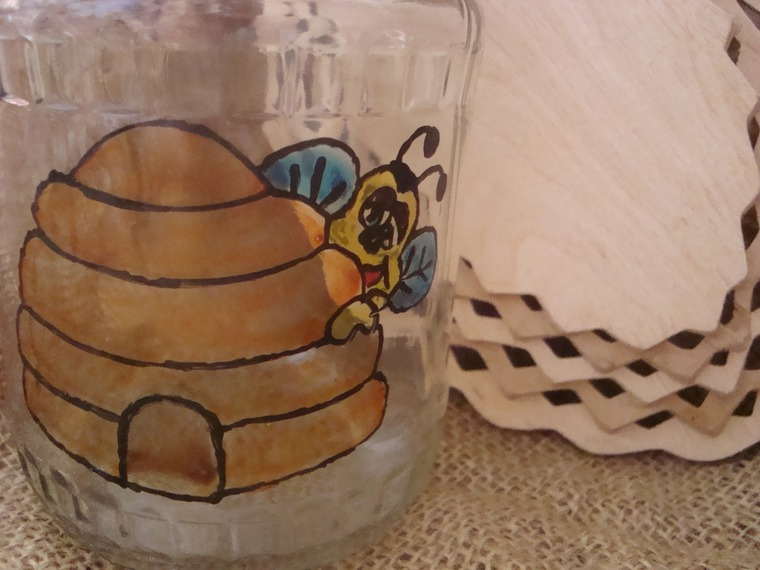 ярмарка-продажа, стеклянная тара, пчела с медом