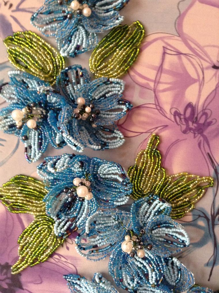 цветы из бисера, творчество