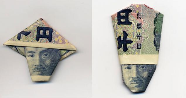 оригами из купюр