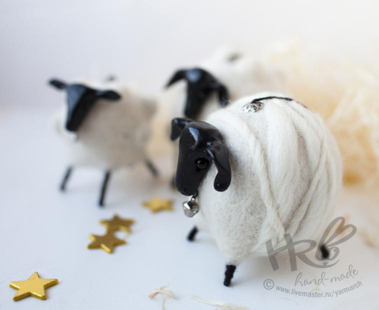 овечка, белая овечка