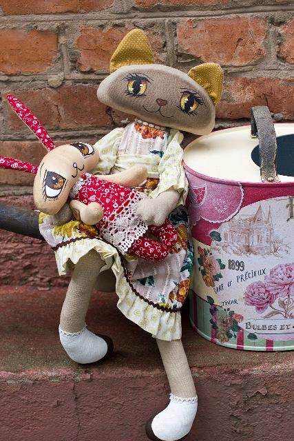 Мастер-класс   Текстильная кошка с расписными глазами., фото № 2