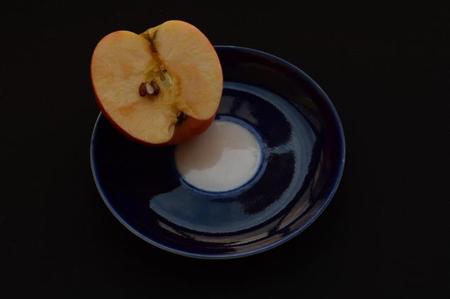 Изо яблоко фон тень