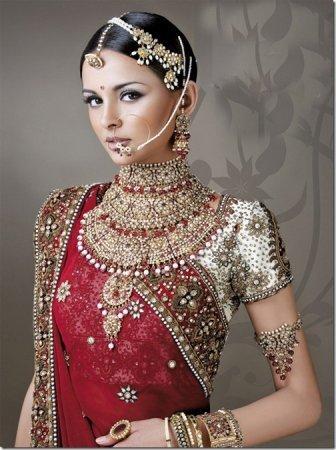 Индийское платье украшения