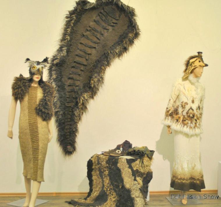 валяние из шерсти, выставки, мода 2014