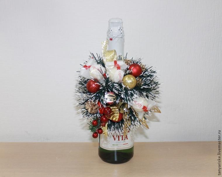 Як прикрасити пляшку шампанського на Новий рік
