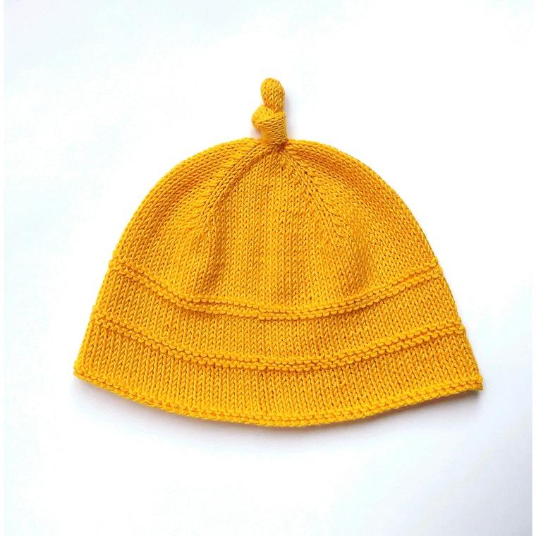 шапочка для девочки, жёлтый цвет
