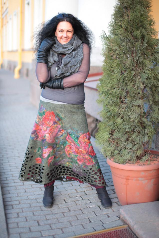 валяная юбка