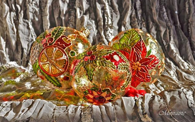 елочные шары, рождественский подарок