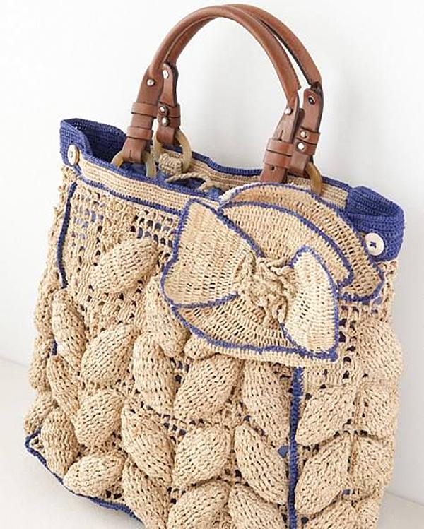 66d732d78b02 Вязаные сумки: богатство фантазии дизайнеров – Ярмарка Мастеров