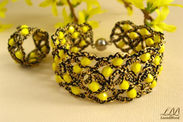 вдохновение, желтый браслет, радость