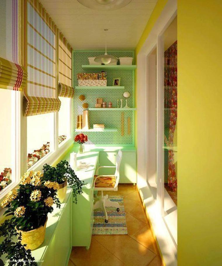 Сочетание цветов на балконе фото