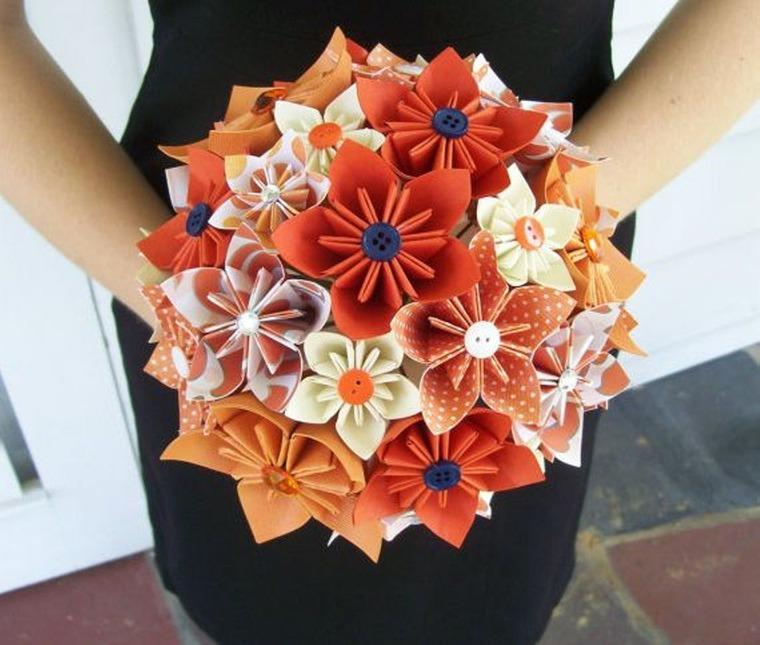 Как сделать букет цветы из бумаги