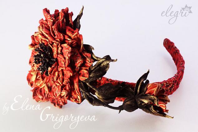 ммастер-класс цветы, мк роза, мастер-класс по коже