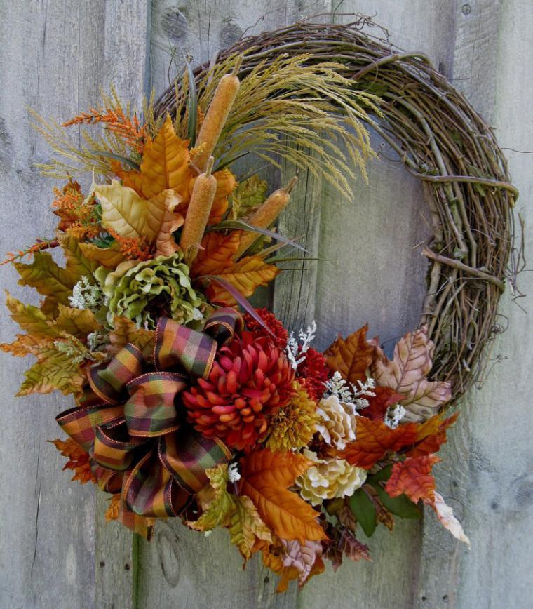 Осенние экибаны своими руками из природного материала фото