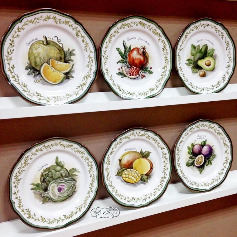 Декорирование стен тарелками, фото № 32