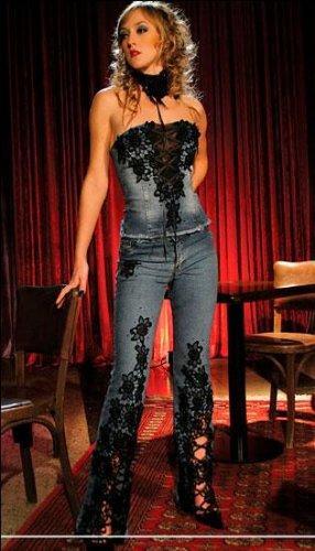 Вышивка бисером джинс