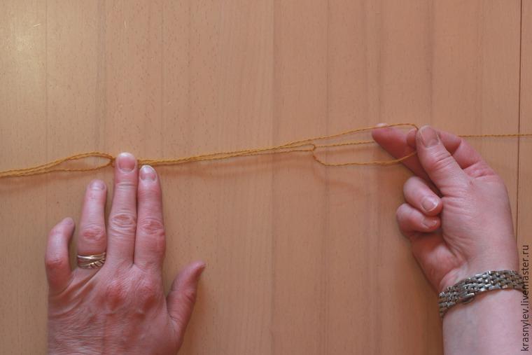 вязание в 3 сложения