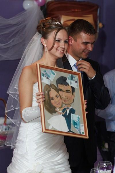 Оригинальный подарок на свадьбу от подруги 857