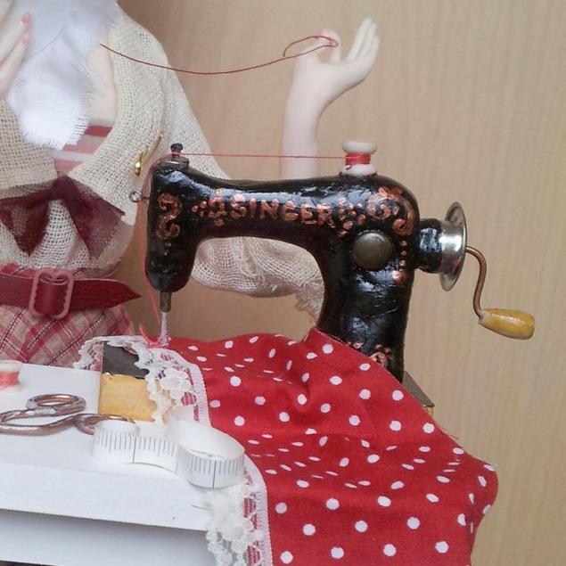 Швейная машинка для кукол своими руками 76