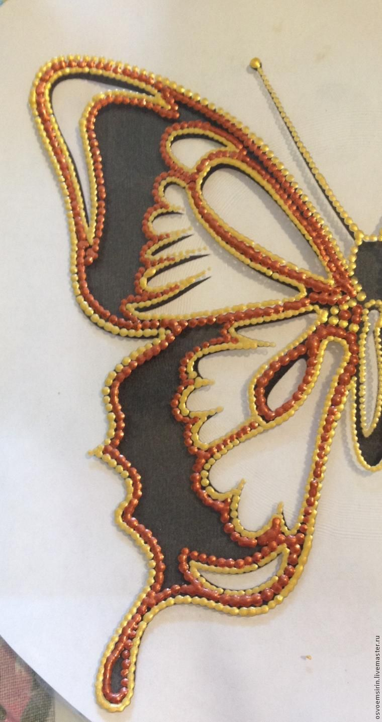 Decorating a Butterfly Plate in the Dot Painting Technique, фото № 3