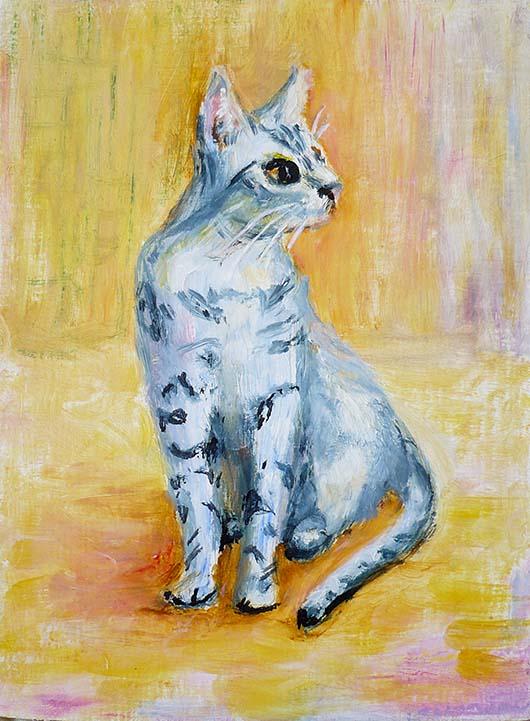портрет котшки котят кота, картины на заказ