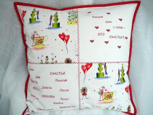 день святого валентина, декоративные подушки, подарок женщине