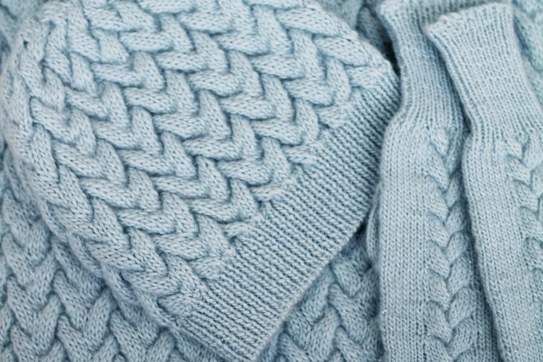 вязаные шапочка и шарф