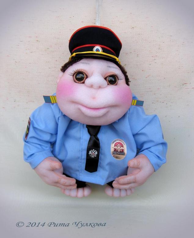 Кукла попик полицейский своими руками 28