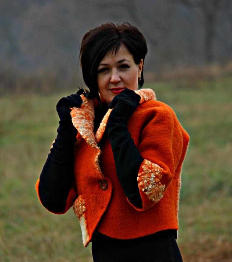 куртка, рыжий