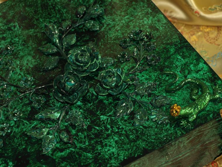 малахитовые цветы